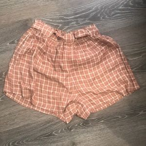 574778f1d2 American Eagle Outfitters Shorts | Ae Plaid Paperbag Short | Poshmark